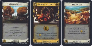 Cards from Dominion: Cornucopia