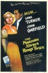 Movie poster for The Postman Always Rings Twice