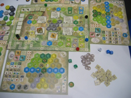 Two player boards and the central area of Burgundy visible.