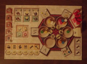 The Trajan player board.