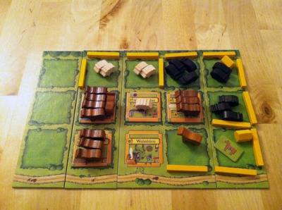 A player board at game's end